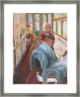 The Last Barber Shop  Framed Print by Susan Richardson
