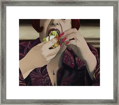 The Last Bite Framed Print by Marcella Lassen