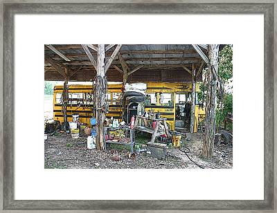 The Last Bus Stop Framed Print by Nina Fosdick