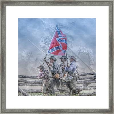 The Last Charge Framed Print by Randy Steele