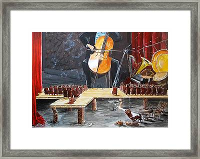 The Last Concert Listen With Music Of The Description Box Framed Print by Lazaro Hurtado