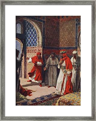 The Last Council Of Boabdil Framed Print by John Harris Valda