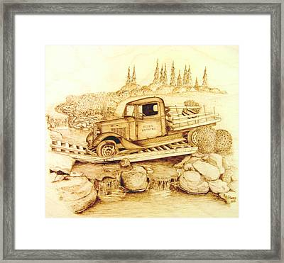 The Last Crossing Framed Print by Roger Storey