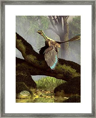The Last Dinosaur Framed Print by Daniel Eskridge