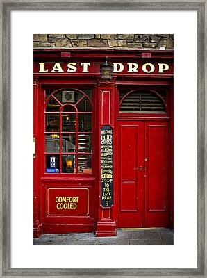 Framed Print featuring the photograph The Last Drop by Bud Simpson