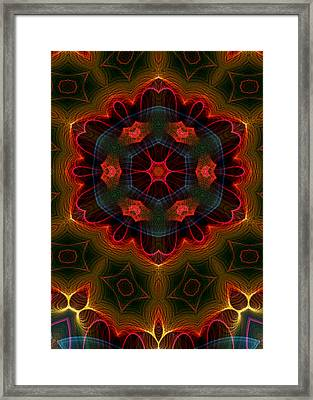 Framed Print featuring the digital art The Last Flower II by Owlspook