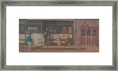 Framed Print featuring the painting The Last Goodbye by Tony Caviston