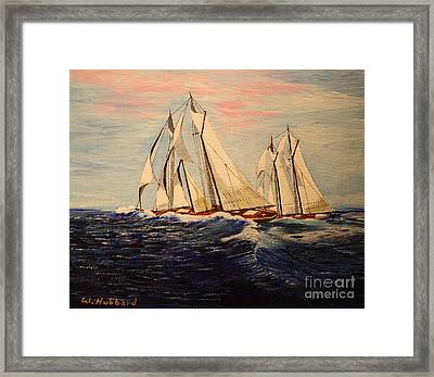 The Last Great Int'l. Fisherman's Race Framed Print by Bill Hubbard