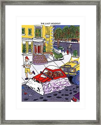 The Last Holdout Framed Print