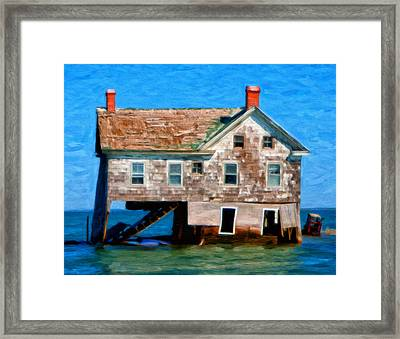 The Last House On Holland Island Framed Print