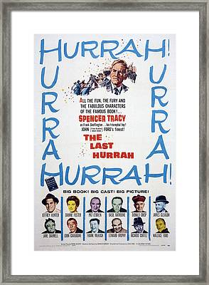 The Last Hurrah, Top Spencer Tracy Framed Print by Everett