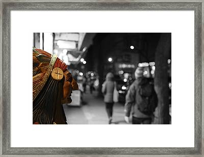 The Last Indian In New York Framed Print by Lee Dos Santos