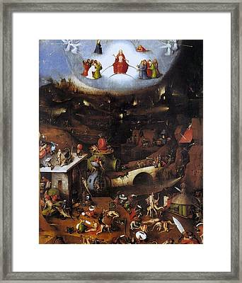 The Last Judgment - Central Panel Framed Print by Hieronymus Bosch