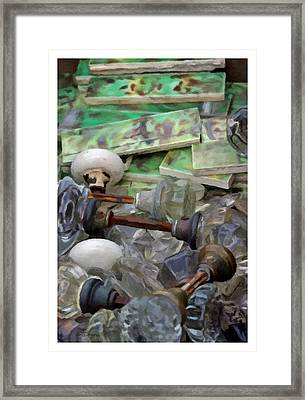The Last Knobs Framed Print by Udo Dussling