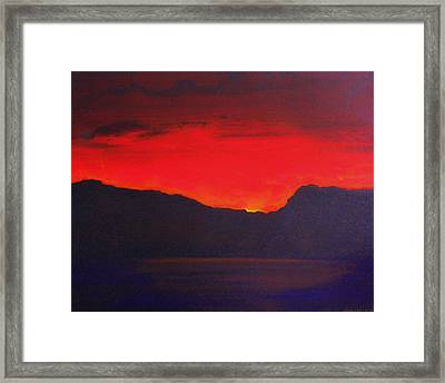 The Last Light 2012 Framed Print