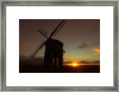 The Last Light Of The Day Framed Print by Chris Fletcher
