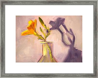 The Last Lily Framed Print by Nancy Merkle