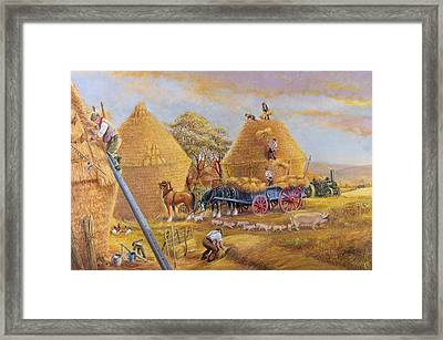 The Last Load Framed Print by Dudley Pout