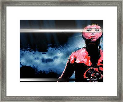 Framed Print featuring the digital art The Last 'man' On Earth Stands... by A Dx