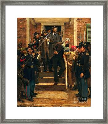 The Last Moments Of John Brown Framed Print by Pg Reproductions