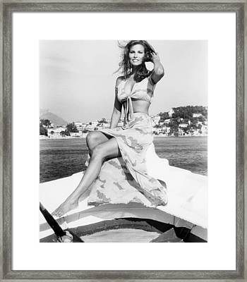 The Last Of Sheila, Raquel Welch, 1973 Framed Print by Everett