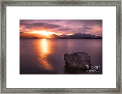 The Last Rays  Loch Lomond Framed Print by John Farnan
