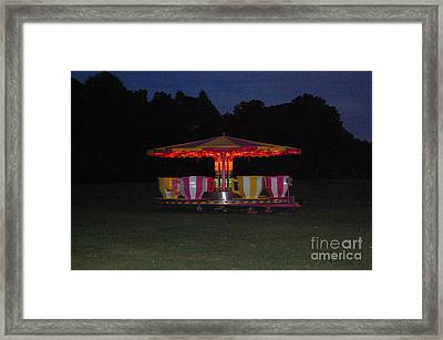 Framed Print featuring the photograph The Last Ride Of The Night by Linda Prewer