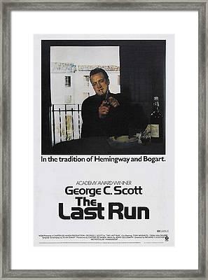 The Last Run, Us Poster Art, George C Framed Print by Everett