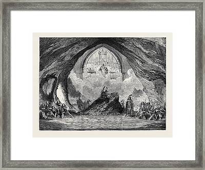 The Last Scene From The New Opera Of Satanella At Covent Framed Print