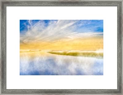 The Last Sea - Golden Coastal Dawn Framed Print