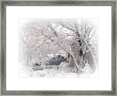 Framed Print featuring the photograph The Last Snow Storm by Kay Novy