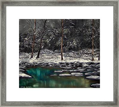 The Last Snowfall Framed Print by Lisa Aerts