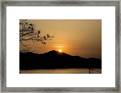 The Last Sunset Of 2013. Framed Print