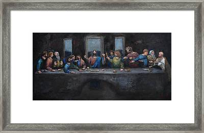 The Last Supper Framed Print by Carole Foret