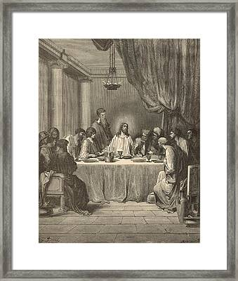 The Last Supper Framed Print by Antique Engravings