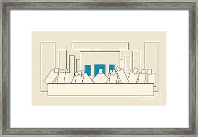 The Last Supper Framed Print by Igor Kislev