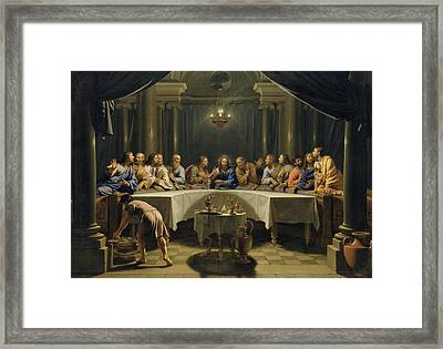 The Last Supper Framed Print by Jean Baptiste de Champaigne
