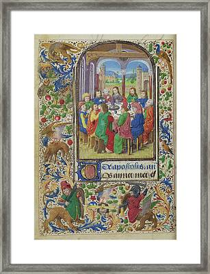 The Last Supper Lieven Van Lathem, Flemish, About 1430 - Framed Print by Litz Collection