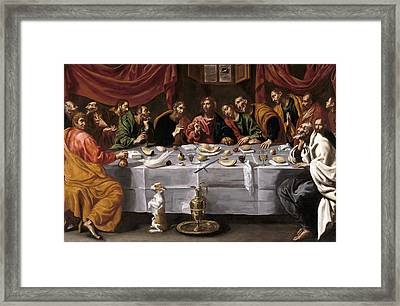 The Last Supper Framed Print by Luis Tristan de Escamilla