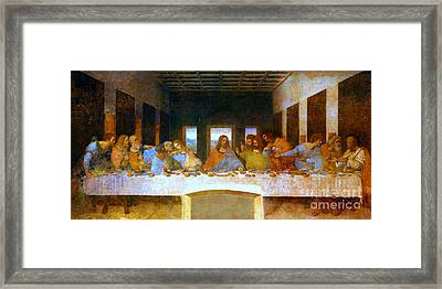 The Last Supper Framed Print by Pg Reproductions