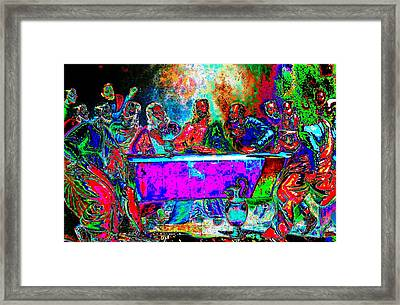 The Last Supper Rendition 01 Framed Print by Ricky Nathaniel