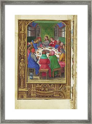 The Last Supper Simon Bening, Flemish, About 1483 - 1561 Framed Print
