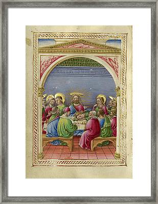 The Last Supper Taddeo Crivelli, Italian, Died About 1479 Framed Print by Litz Collection