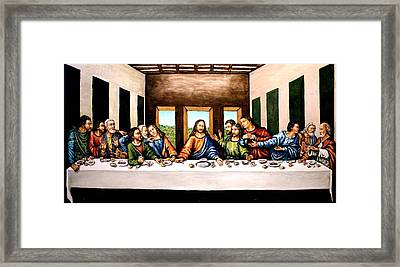 The Last Supper Framed Print by Todd Spaur