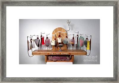 The Last Supper With Tupperwear  #91 Framed Print by Bill Czappa