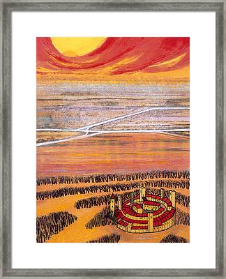 The Last Town, 2006 Framed Print by Silvia Pastore