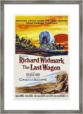 The Last Wagon, Us Poster, Richard Framed Print