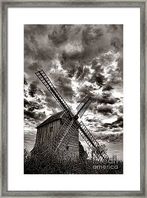 The Last Windmill Framed Print by Olivier Le Queinec