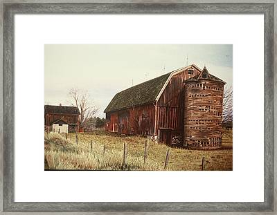The Last Wooden Silo Framed Print