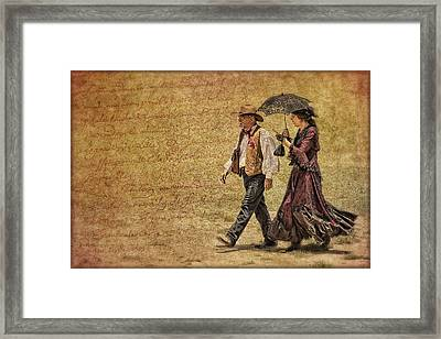 The Last Word Framed Print by Priscilla Burgers